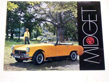 MG Midget オリジナル 当時物 オートモビリア 印刷物 カタログ