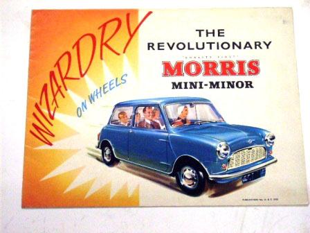 オートモビリア 印刷物 カタログ カタログ Morris Mini Minor オリジナル 当時物