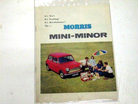 リーフレット Morris Mini Minor オリジナル 当時物 オートモビリア 印刷物 カタログ