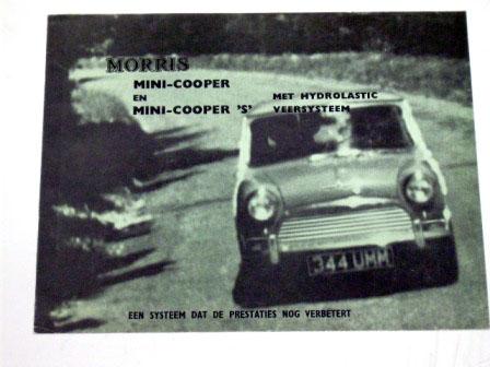 オートモビリア 印刷物 カタログ カタログ Morris Mini Cooper & S オリジナル 当時物