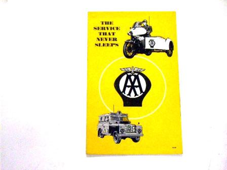リーフレット AA 1959 Nov オリジナル 当時物 オートモビリア 印刷物 カタログ