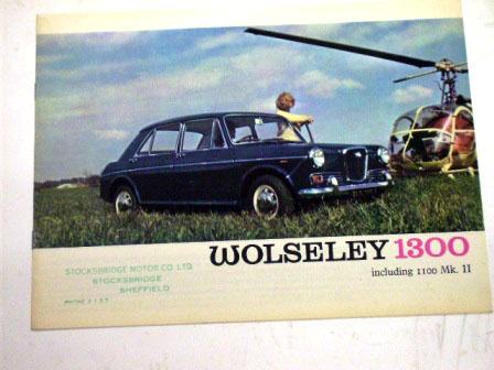 1967y' Wolseley 1100&1300 MK2 オリジナル 当時物 オートモビリア 印刷物 カタログ