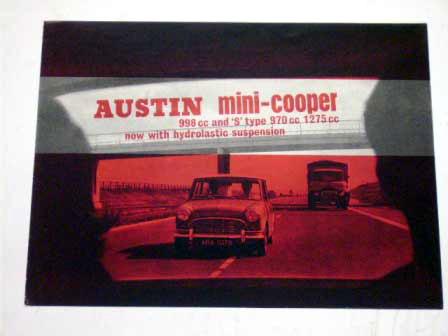 オートモビリア 印刷物 カタログ カタログ 1964y' Austin Mini Cooper &S  998,970&1275 オリジナル 当時物