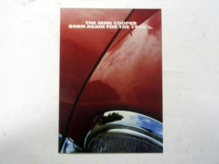 1990y'Mini Cooper Formula R オリジナル 当時物 オートモビリア 印刷物 カタログ