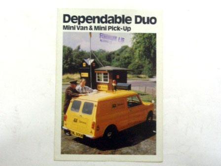 オートモビリア 印刷物 カタログ カタログ 1974y' Mini Van & Pick-up オリジナル 当時物