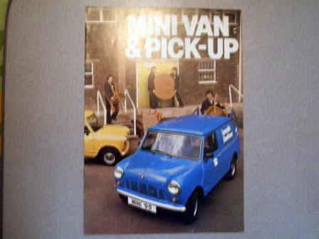 オートモビリア 印刷物 カタログ カタログ Mini Van & Pick-up オリジナル 当時物