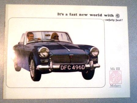 MG Midget MK3 オリジナル 当時物 オートモビリア 印刷物 カタログ