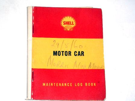 小冊子 Shell Maintenance Log Book 1960May オートモビリア 印刷物 マニュアル