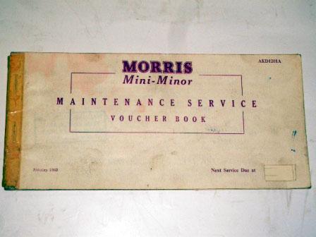 小冊子 Morris Mini Minor Passport to service 1960Jan オートモビリア 印刷物 マニュアル