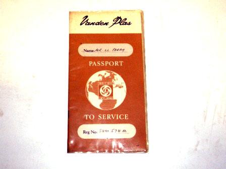 小冊子 Vanden Plas Passport to service オートモビリア 印刷物 マニュアル