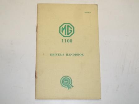 小冊子 MG 1100 Drivers Handbook  BMC オートモビリア 印刷物 マニュアル