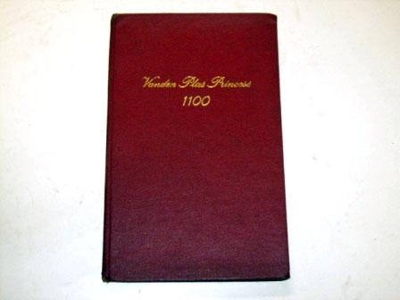 小冊子 Vanden plas prinsess 1100 オートモビリア 印刷物 マニュアル