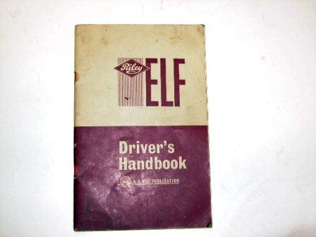 小冊子 Riley Elf Drivers handbook オートモビリア 印刷物 マニュアル