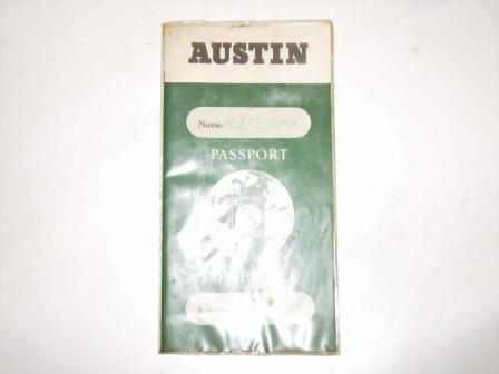 小冊子 Austin Passport to service オートモビリア 印刷物 マニュアル