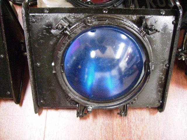 英国製 信号機ライト(ブルー) オートモビリア その他 その他