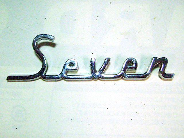 """バッジ (リア) """"Seven"""" ミニ オースチン セブン 純正 未使用 英国車・MINIのレアパーツ エンブレム類(Emblem)"""