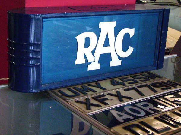 RAC ネオン看板 オートモビリア 看板 サインボード(ネオン)