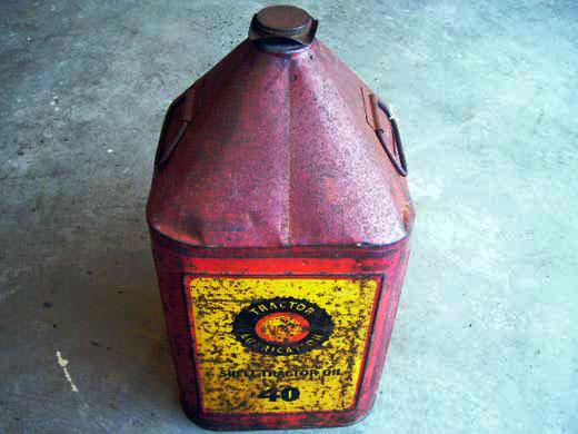 オイル缶 赤/黄色 オートモビリア オイル オイル携行缶
