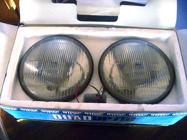 ヘッドランプ WIPAC 2灯入り箱付き 英国車・MINIのレアパーツ ライト類