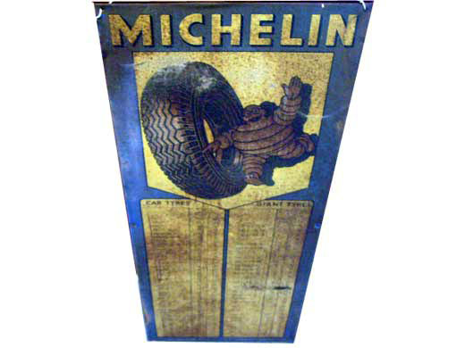 看板 MICHELINミシュラン オリジナル オートモビリア 看板 サインボード(エナメル他)