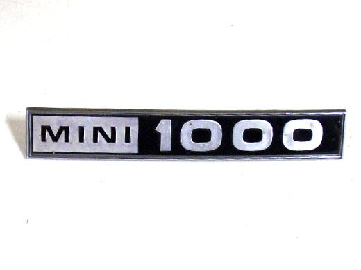 バッジ (リア) MINI 1000 MK-3 純正 中古 英国車・MINIのレアパーツ エンブレム類(Emblem)