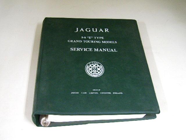 "JAGUAR シリーズ1 3.8 ""E"" TYPE GRAND TOURING MODELES SERVICE MANUAL オートモビリア 印刷物 マニュアル"