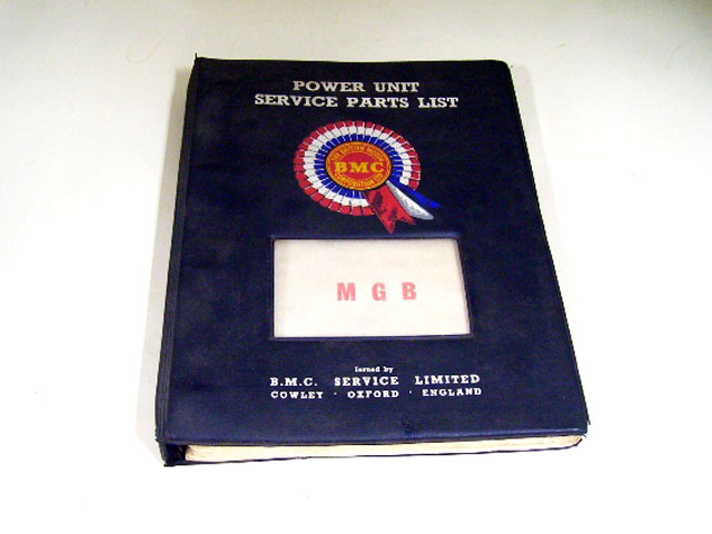 MGB POWER UNTT SERVICE PARTS LIST BMC オートモビリア 印刷物 カタログ