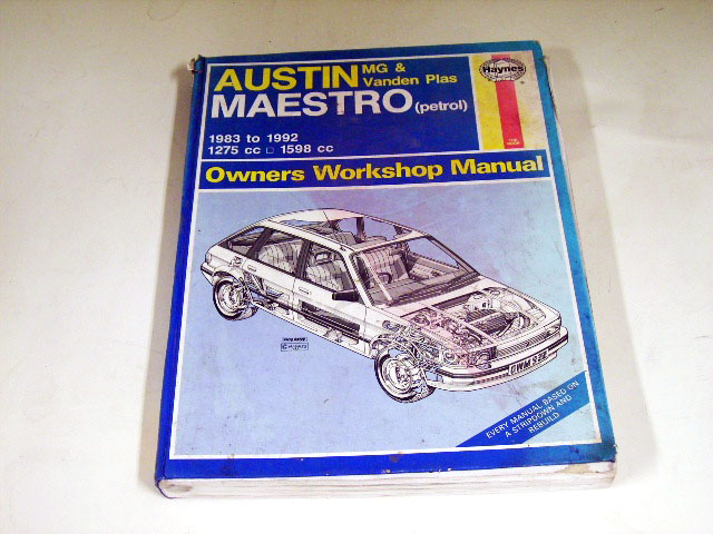 オートモビリア 印刷物 マニュアル AUSTIN MAESTRO MG&VANDEN PLAS OWNERS WORKSHOP MANUAL