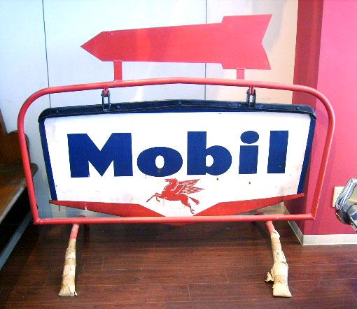 サインボード Mobil エナメル(大) オートモビリア 看板 サインボード(エナメル他)