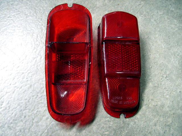 MINI ピックアップ MK-1 Lucas レンズ 輸出モデル(赤一色) 純正 新品 ペア 英国車・MINIのレアパーツ ライト類