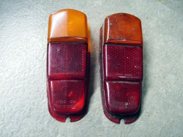 MINI ピックアップ MK-1 Lucas テールランプレンズ 純正 中古 ペア 英国車・MINIのレアパーツ ライト類