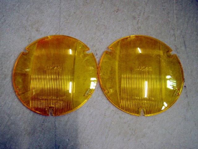 ルーカス(Lucas) ヘッドライト カバー 新品 ペア 英国車・MINIのレアパーツ ライト類