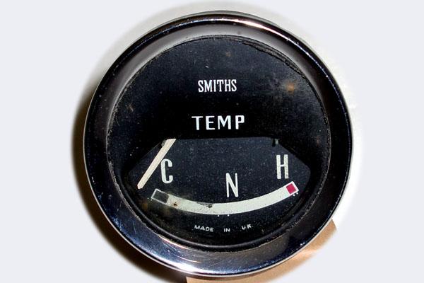 Mini Mk1 & 'S' Smith 純正 ウォーターテンプゲージ 水温計 デッドストック(未使用) 英国車・MINIのレアパーツ 計器類