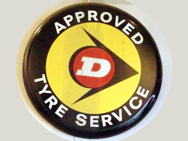 Dunlop(ダンロップ)看板 ペイント オートモビリア 看板 サインボード(エナメル他)