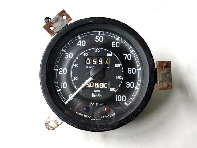 スピード・メーター スミス バンデンプラス用 マイル 中古 英国車・MINIのレアパーツ 計器類