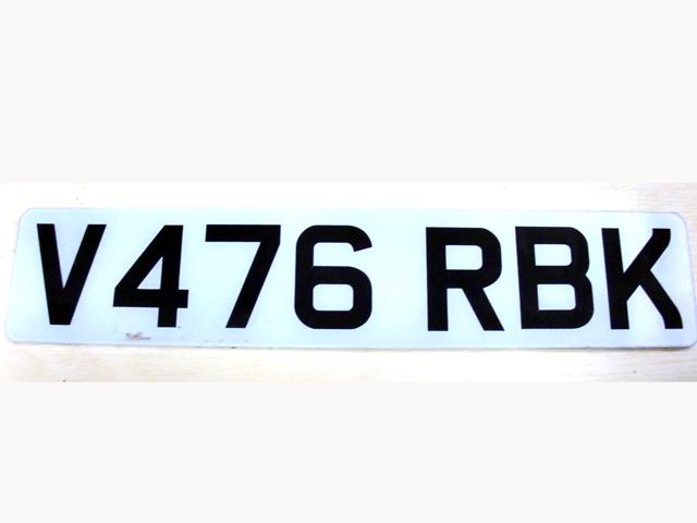 英国 ナンバープレート  V476RBK オートモビリア その他 カー・バッジ/プレート