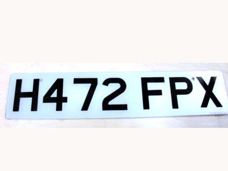 英国 ナンバープレート  H472FPX オートモビリア その他 カー・バッジ/プレート