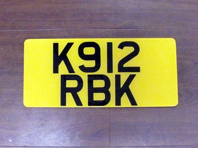英国 ナンバープレート  K912RBK オートモビリア その他 カー・バッジ/プレート