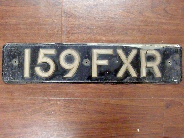英国 ナンバープレート  159FXR オートモビリア その他 カー・バッジ/プレート