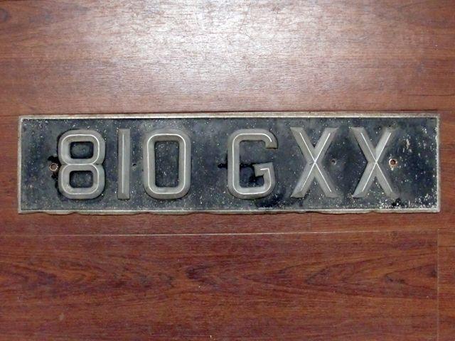 英国 ナンバープレート ペア  810GXX オートモビリア その他 カー・バッジ/プレート
