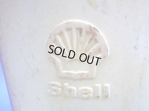 画像2: オイルジャグ Shell  プラスティック 白 1リッター