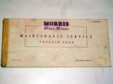 小冊子 Morris Mini Minor Passport to service 1960Jan