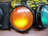 英国製 信号機ライト(オレンジ)