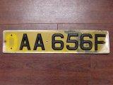 英国 ナンバープレート  AA656F