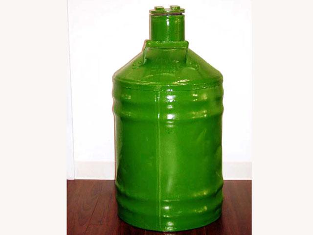 画像1: オイル缶 グリーン