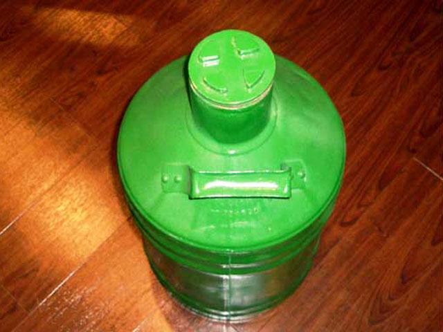 画像2: オイル缶 グリーン