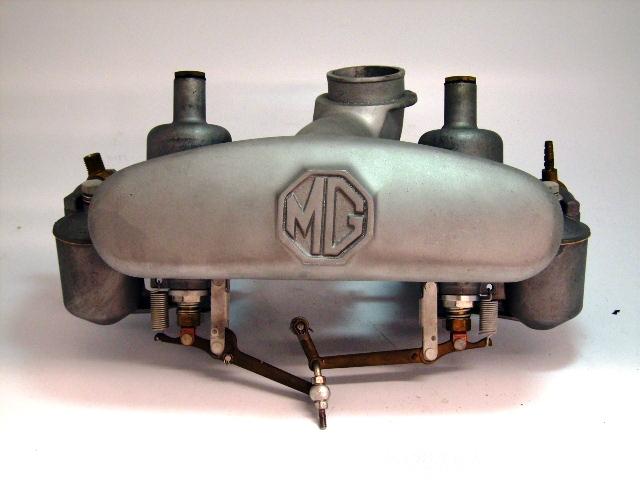 画像1: ツインキャブAssy H4 MG 1950年代 中古