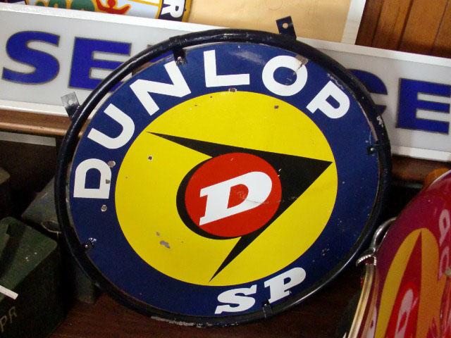 画像2: サインボード DUNLOP エナメル 両面