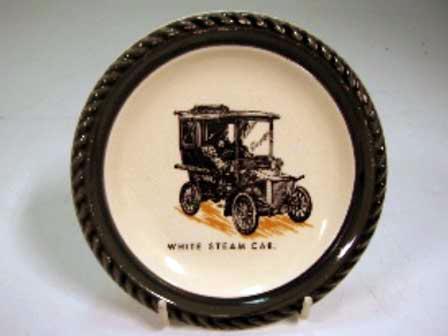 画像1: Wade社 Veteran Car シリーズ 絵皿 White Steam Car