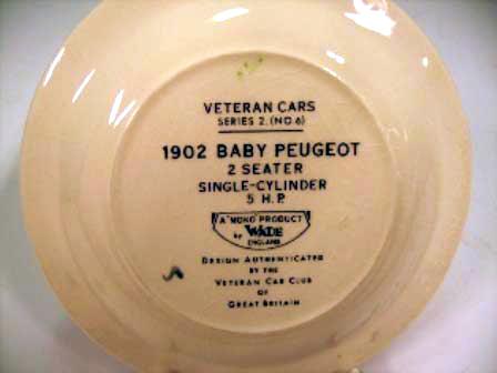 画像2: Wade社 Veteran Car シリーズ 絵皿 Baby Peugeot